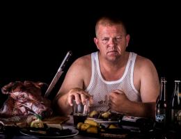 Man pig eater