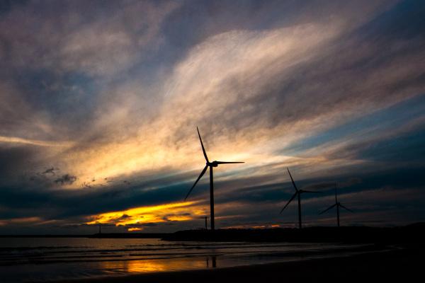 Solnedgang Hvide Sande kyst