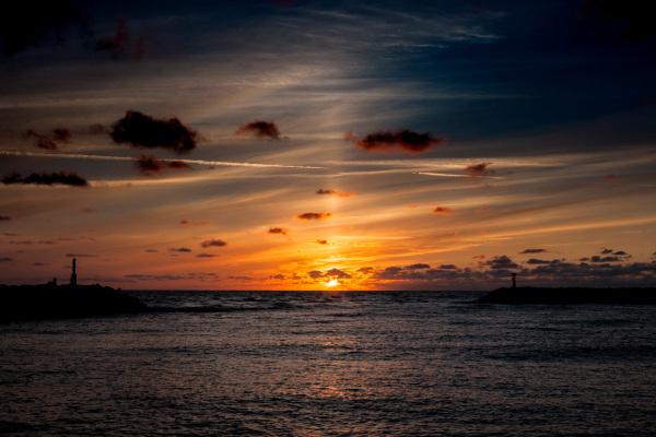 Solnedgang-Hvide-Sande-havn